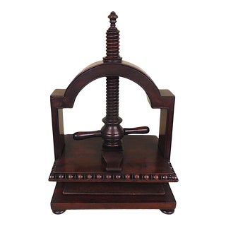 Early 19th Century Mahogany Table Top Book Press For Sale