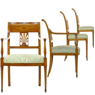 19th Century Belgian Empire Set of Four Antique Chairs by Jean-Joseph Chapuis For Sale
