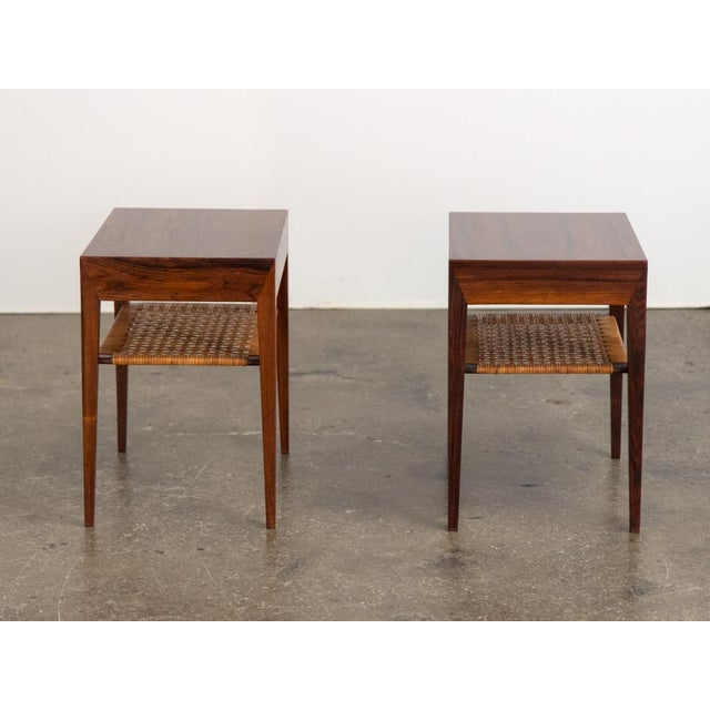 1950s Mid-Century Modern Rosewood Tables by Severin Hansen - a Pair For Sale - Image 5 of 10