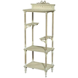 19th Century French Painted Louis XVI Shelf ~ Etagere For Sale