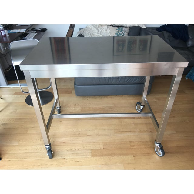Design Within Reach Stainless Steel Counter Height Table Chairish