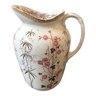 1870s British Victorian Ceramic Jug For Sale