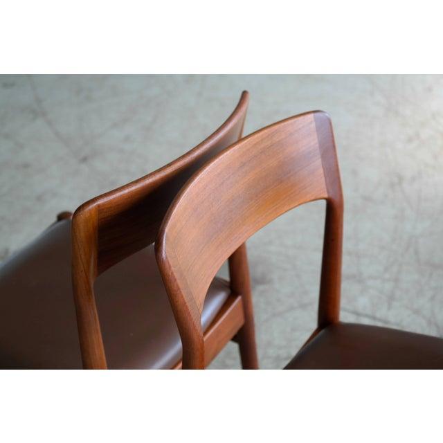 Danish Modern Set of Six Dining Chairs in Teak by Kai Kristiansen for k.s. Mobler Denmark, 1960s For Sale - Image 3 of 10