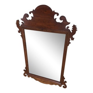Stickley Cherry Valley Chippendale Style Beveled Edge Mirror For Sale