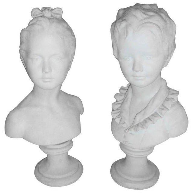 Brother and Sister Parian Busts- A Pair - Image 8 of 8