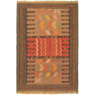 Vintage Natura Kilim Cakir Rug- 3′10″ × 5′11″ For Sale