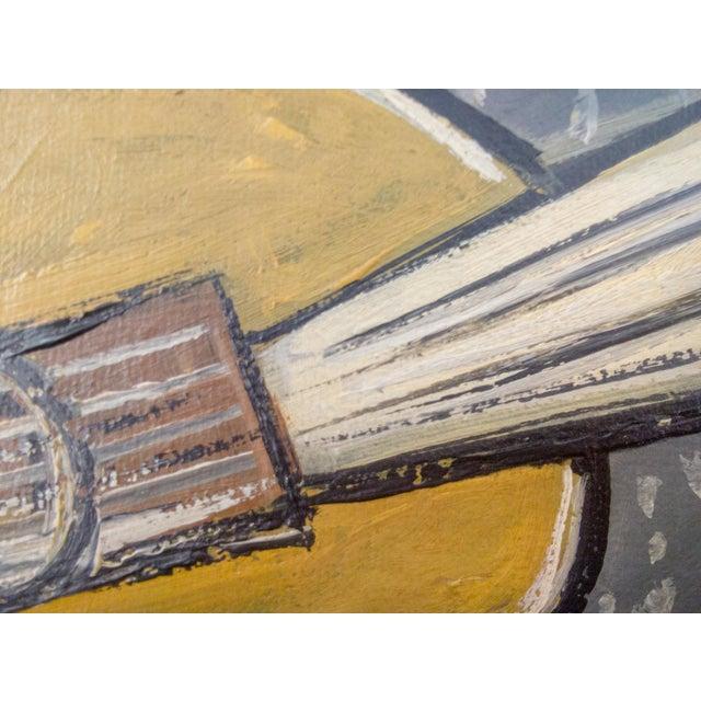 Cubism Cubist Portrait of Instrument Oil Painting For Sale - Image 3 of 6