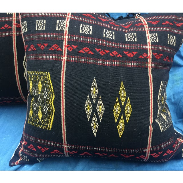 Burmese Chin Tribal Textile Pillows - A Pair - Image 3 of 7