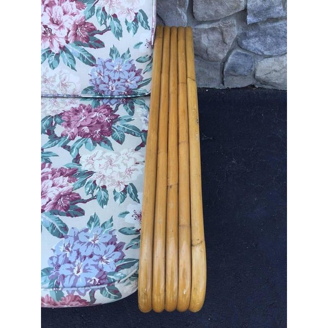 Paul Frankl Square Pretzel Rattan Sofa Style of Paul Frankl For Sale - Image 4 of 5