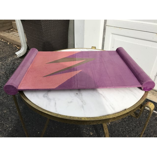 Postmodern Lacquered Papier-Maché Tray For Sale - Image 3 of 7