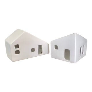 Boconcept Ceramic White Houses - Set of 2 For Sale