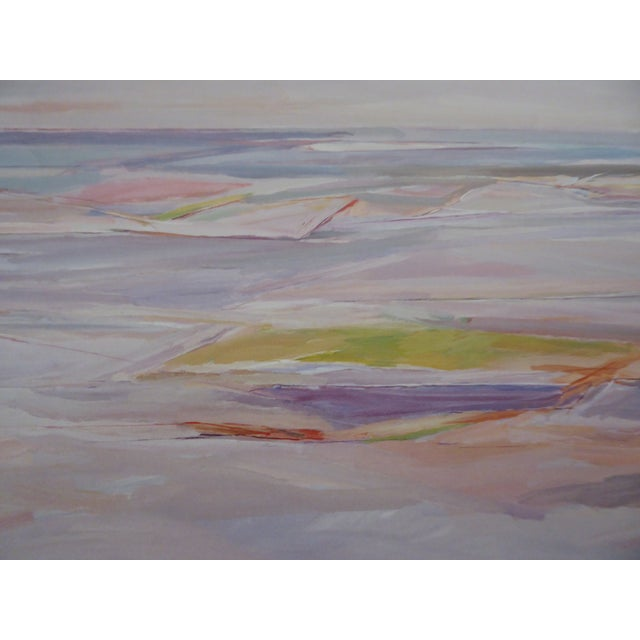 RARE, Gorgeous Pastel Abstract, Sand and Water, Vintage 1980s by Canadian Artist Gordon Appelbe Smith. On Medium Cardstock...