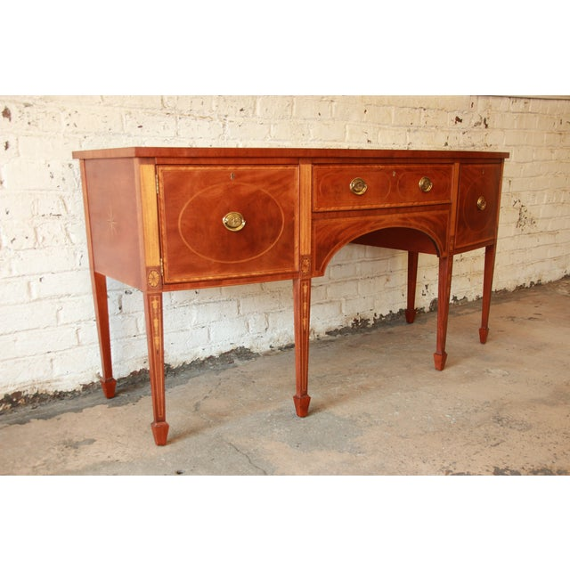 Neoclassical Baker Furniture Historic Williamsburg Sideboard For Sale - Image 3 of 11