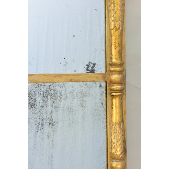 19th Century Empire Giltwood Pier Mirror For Sale - Image 4 of 8