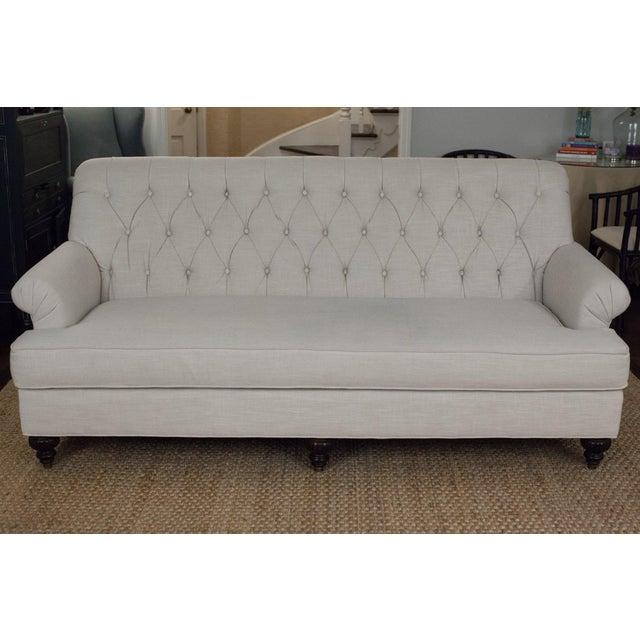Highland House Linen Tufted Sofa - Image 3 of 8