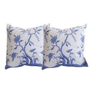 Dana Gibson Cliveden in Blue Pillows - A Pair