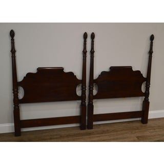 Statton Longmeadow Old Towne Cherry Pair Poster Twin Headboards Preview