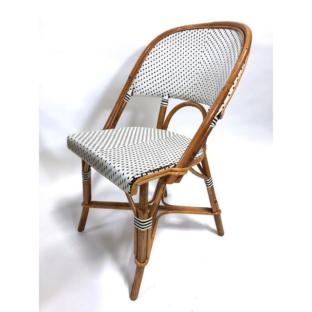Maillot French Bistro Woven Bamboo Rattan Chairs—Set of 5 For Sale - Image 10 of 13