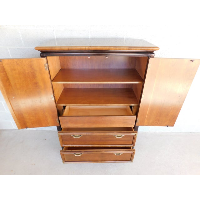 """Late 20th Century Broyhill Premier """"Ming"""" Collection Armoire / Chest For Sale - Image 5 of 13"""