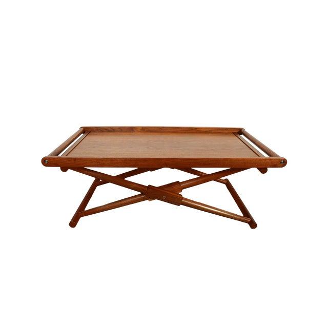 Modern Richard Wrightman Matthiessen Walnut Coffee Table For Sale