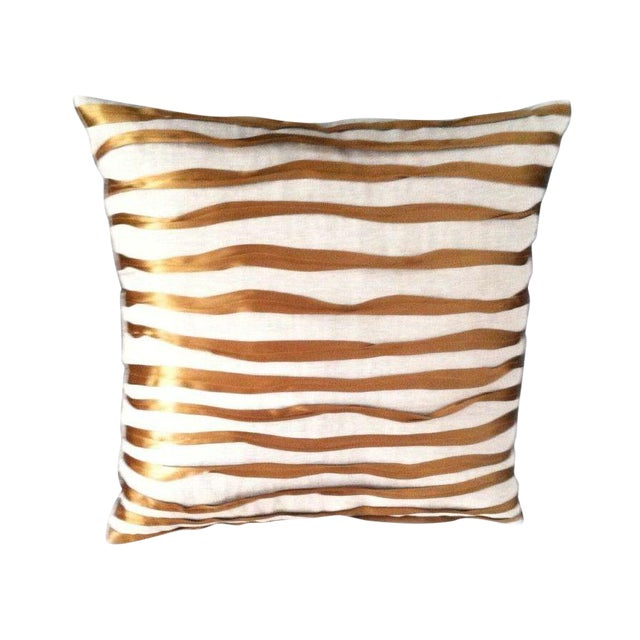Dransfield and Ross Twisted Ribbon Pillow For Sale