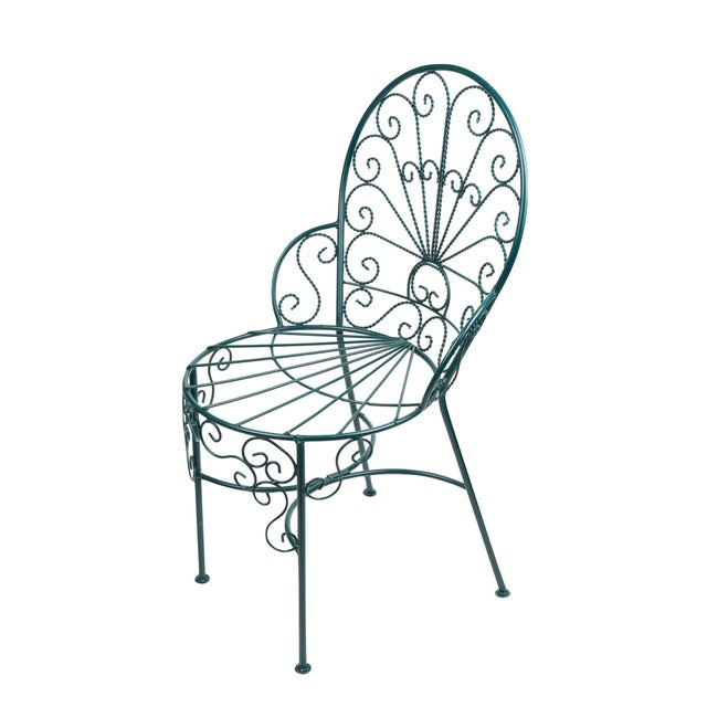 French Twisted Wire Peacock Chairs - Set of 3 - Image 3 of 3