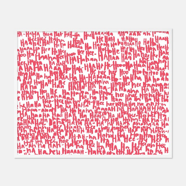 Kate Roebuck Haha Pink Two by Kate Roebuck in White Framed Paper, Medium Art Print For Sale - Image 4 of 4