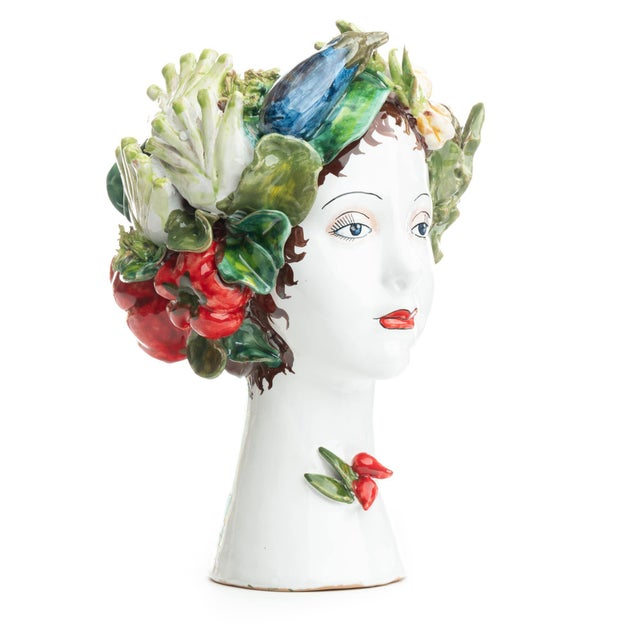 Sculpture with Vegetables, Ceramiche D'arte Dolfi For Sale - Image 4 of 12