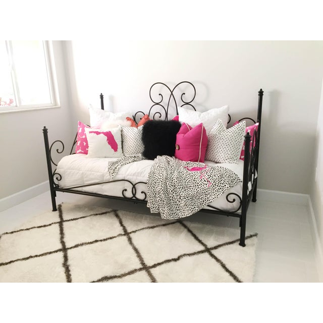 Black Pottery Barn Amalie Iron Daybed For Sale - Image 8 of 12