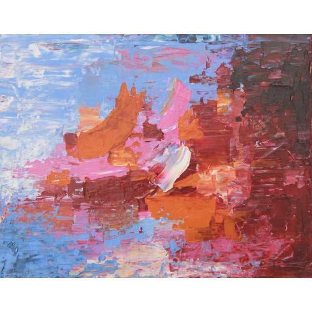 """C. Plowden """"Sailing at Daybreak"""" Abstract Painting - Image 1 of 2"""