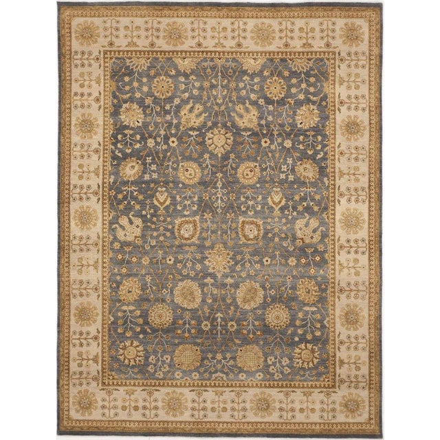 """Hand-Knotted Wool Rug - 8'10""""x 11'10"""" For Sale"""