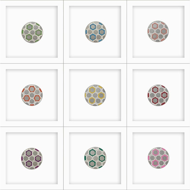 Minimalist Geometric Ink Drawings by Natasha Mistry- Set of 9 For Sale