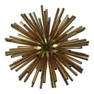 Vintage Solid Brass Starburst Orb For Sale