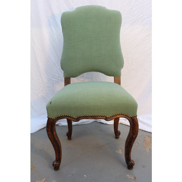 Lovely 18th c. Louis XV French Provincial side chair Please note: Decaso will provide domestic shipping in the USA....