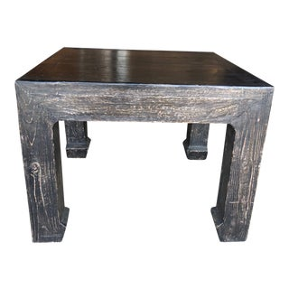 Distressed Black Ming Style Side Table