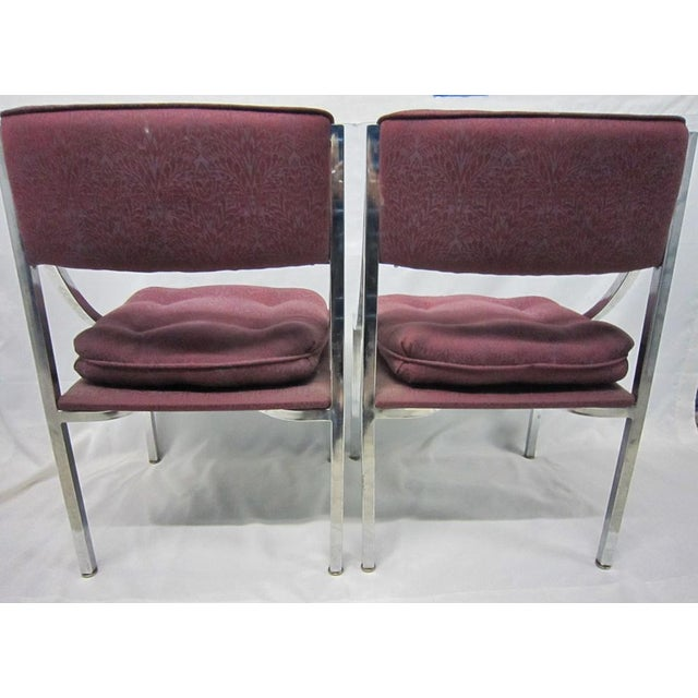 Milo Baughman Dining Chairs - A Pair For Sale - Image 6 of 7