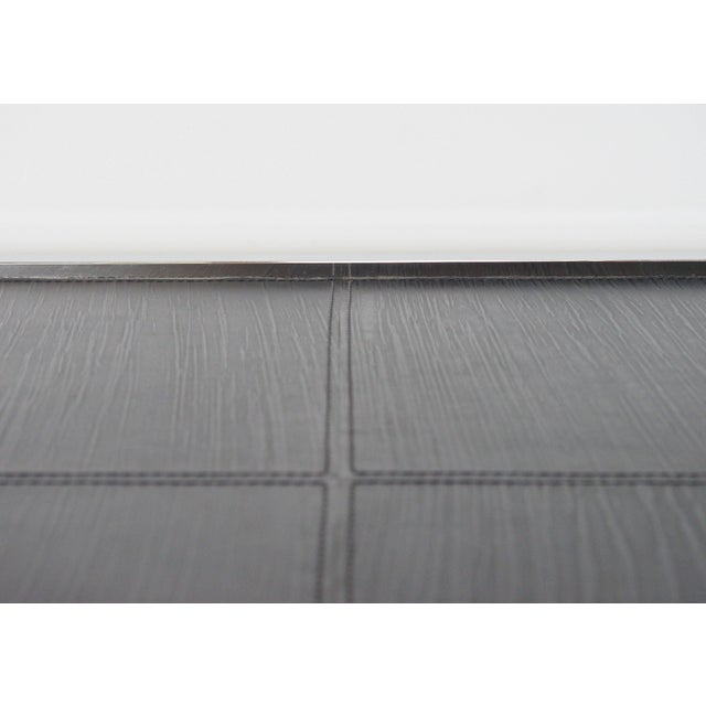 Metal Black Leather and Stainless Steel Coffee Table by Fabio Ltd For Sale - Image 7 of 8
