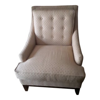 Fairfield Golden Beige Patterned Reversible Cushion Accent Chair For Sale