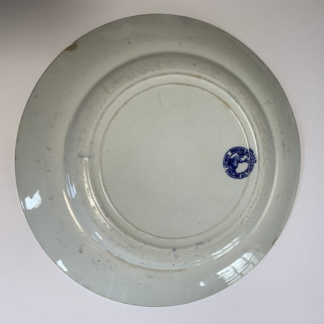 What stands out in this piece is the desirous deep cobalt blue artwork set on bright white produced by Dudley, Wilcox &...