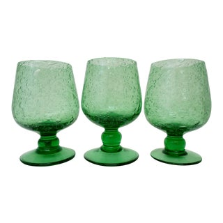 Country French Glasses - Set of 3 For Sale