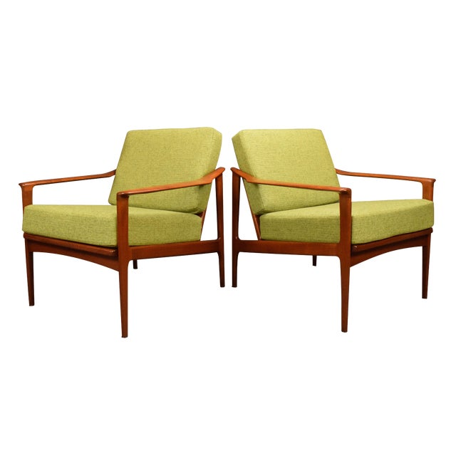 1960s Mid Century Modern Teak Lounge Chairs - a Pair For Sale