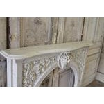 20th Century Louis XV Style Cultured Marble Fireplace Mantle - Image 5 of 6