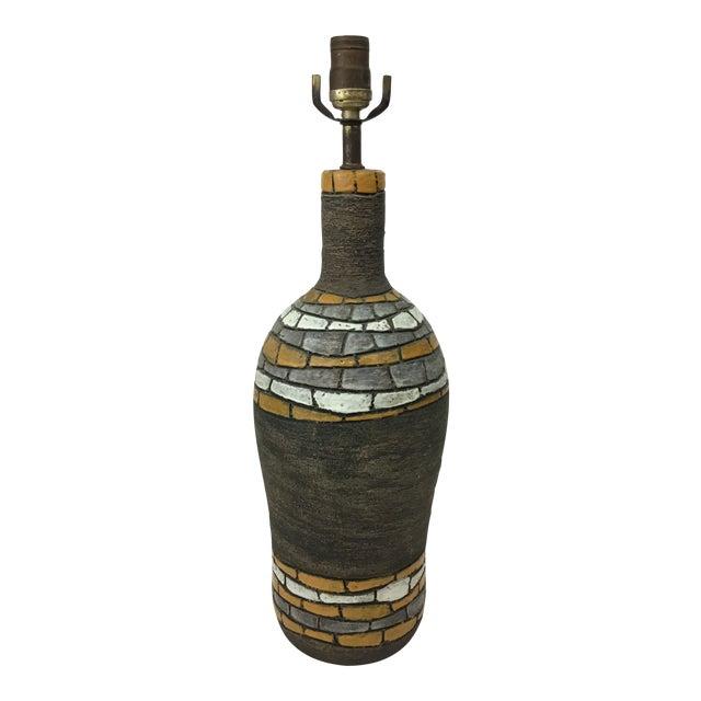 Aldo Londi for Bitossi Italian Mid Century Pottery Lamp For Sale