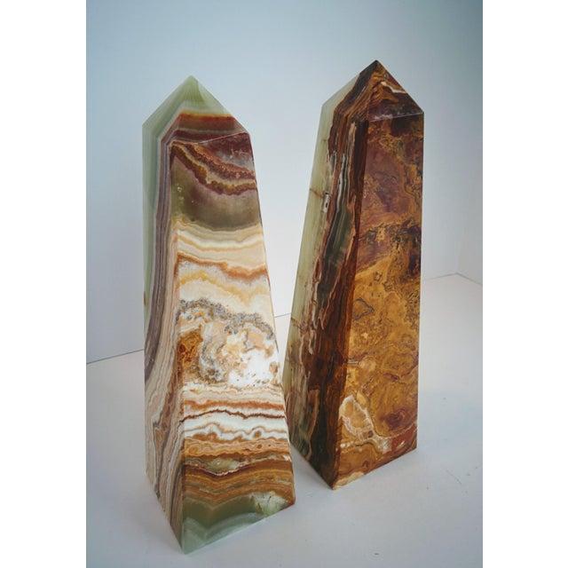 Modern Onyx Obelisks - A Pair - Image 9 of 10