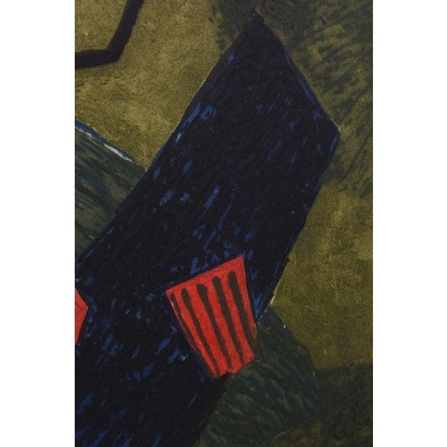 Black Surrealist Carborundum Collagraph by Henri Goetz, Paris 1960s For Sale - Image 8 of 9