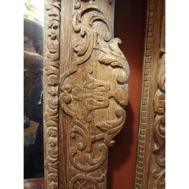 Pair of 19th Century French Carved Oak Mirrors For Sale - Image 10 of 11