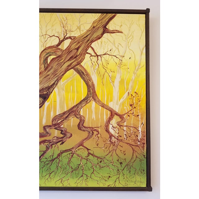 1960s 1965 Abstract Madrona Tree Oil Painting by Charles Radke, Framed For Sale - Image 5 of 6
