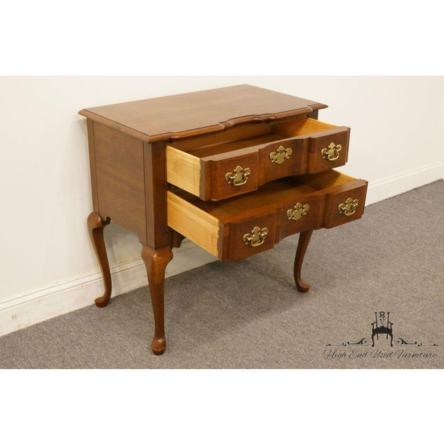 Cherry Wood 20th Century Traditional Wells Furniture Cherry Blockfront Lowboy Chest For Sale - Image 7 of 13