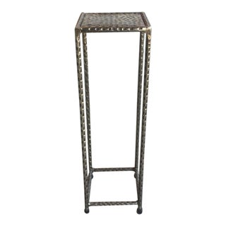 "Antique Silver Finish ""Araby"" Small Drink Table"