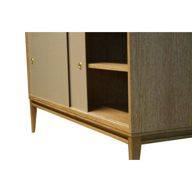 2010s Customizable Bishop Lacquered Linen Door Console For Sale - Image 5 of 10